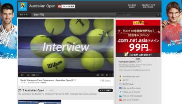 全豪(AUS)オープン2013 YouTube公式チャンネル