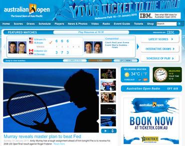 全豪オープン2010、男子決勝前