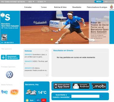 バルセロナ・オープン2012 公式サイト
