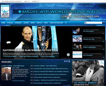 バークレイズ・ATPワールドツアー・ファイナルズ 2009 ダビデンコ優勝