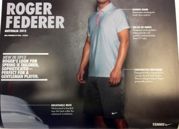 フェデラーの全豪オープン2013着用予定ウェア