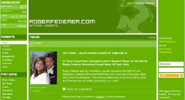 フェデラー公式サイトにおける出産に関するコメント
