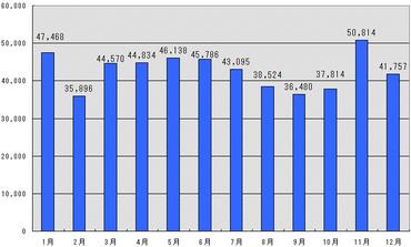 2009年月別アクセス数