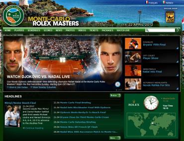 モンテカルロ・マスターズ2012 公式サイト