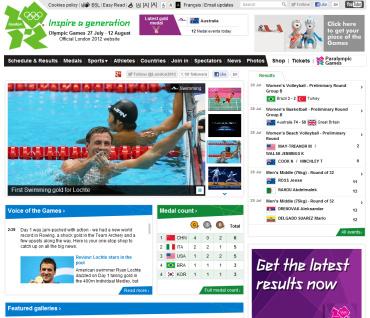 ロンドン 2012 オリンピック 公式サイト