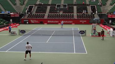楽天・ジャパン・オープン2012 マレーの練習