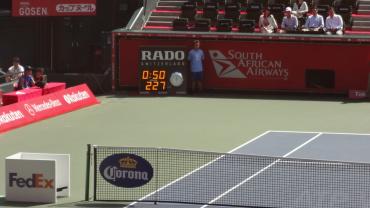 楽天・ジャパン・オープン2012 ラオニッチの本日最速227キロの7サービス