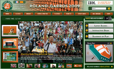 ローランギャロス2009、ナダル4回戦敗退