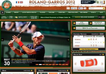全仏オープン(ローランギャロス)2012 公式サイト