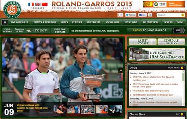全仏オープン(ローランギャロス)2013、ナダル優勝、フェレール準優勝