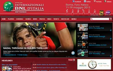 BNLイタリア国際男子(ローマ)2013、公式サイト