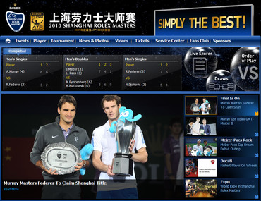 上海ロレックスマスターズ2010、マレー優勝