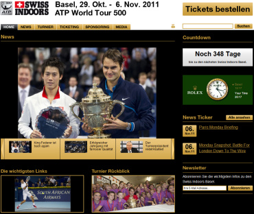 スイスインドア2011 公式サイト
