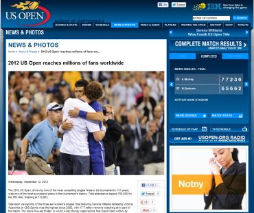 USオープン2012、マレー、グランドスラム初優勝