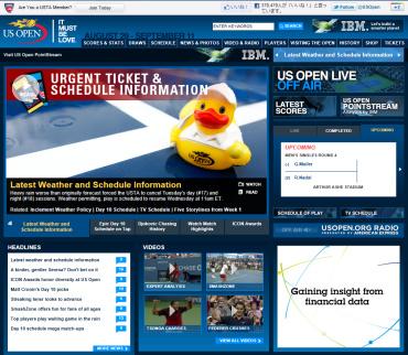 全米オープン2011公式サイト