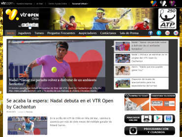 チリのVTRオープン2013、ナダル、シングルス初戦突破