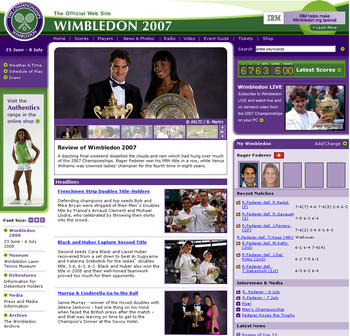 ウィンブルドン2007閉幕